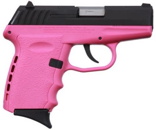 SCCY CPX-2 CBPK 9mm Polymer Frame Pistol, Blued Slide on Pink, DAO 10+1 w/ 2 Mags
