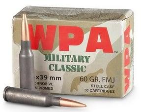 Wolf Military Classic 5.45x39 60 GR FMJ Ammo - 30 Round Box