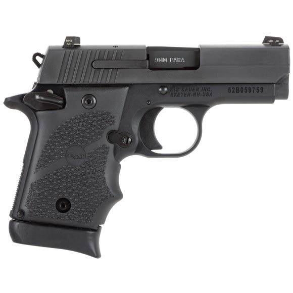 Sig Sauer P938 9mm Pistol, Nitron SAO - 9389BRGAMBI