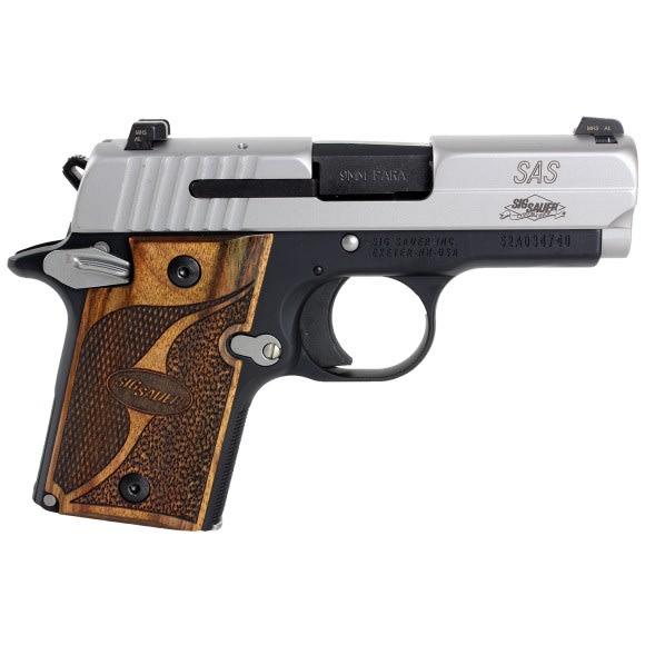 Sig Sauer P938 9MM Pistol, SAS 2Tone NS Ambisafety Goncalo - 9389SASAMBI