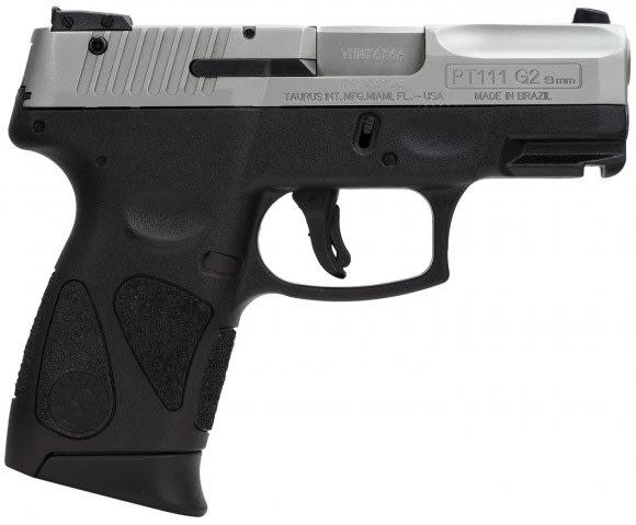 "Taurus PT111 Millennium G2 9mm Pistol, 3.2"" 12rd Capacity Stainless Steel - 1111039G212"