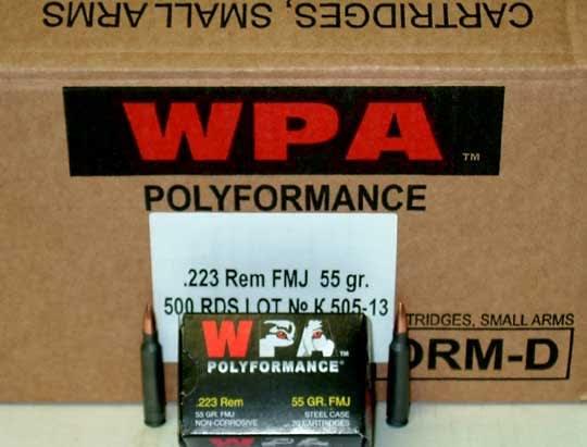 Wolf Polyformance .223 55gr FMJ Ammo - 500rd Case