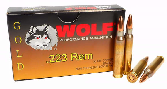 Wolf Gold .223 55 GR Premium Grade FMJ Ammo - 20rd Box