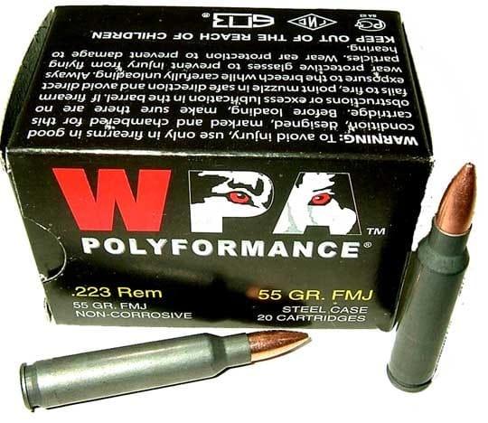 Wolf Polyformance .223 55 GR FMJ Ammo - 20rd Box