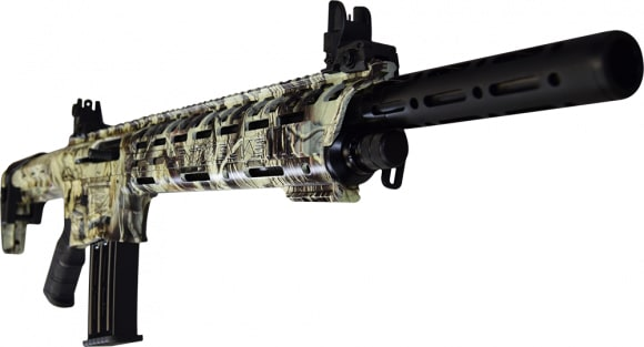 "AR-12 Semi Auto, AR-15 Style 12GA Shotgun by Panzer Arms of Turkey, 3"" Chambers - Special Forest Green Camo Cerakote Finish"