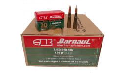 Barnaul Case 762X54R Ammo - Steel Cased, Laquer Coated, 174 Grain, 7.62X54R, FMJ, Non-Corrosive - 500 Round Case