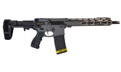 "Fostech Tomcat Semi-Automatic AR-15 Pistol 10"" Barrel .223/5.56 30rd - W/ PDW Brace & ARII Echo Trigger Installed - Tungsten Cerakote Finish"