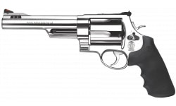 """Smith & Wesson 163565 500 Standard Stainless DA/SA 500 Smith & Wesson 6.5"""" 5 Black Synthetic Stainless Revolver"""