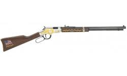 "Henry H004MS2 Golden Boy Military Service Tribute 2 Lever 22 Long Rifle 20"" 16 LR/21 Short Walnut Stock Blued Barrel/Nickel Receiver"