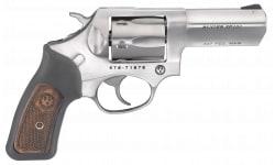 """Ruger 5784 SP101 327FED 3"""" SS Black Rbr/wd Revolver"""