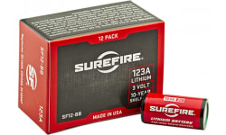 Surefire SF12BB 123A High Performance CR123A 3V Lithium Stick 12