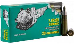 Brown Bear ASUB762FMJ 762X39 196G FMJ SUB - 20rd Box