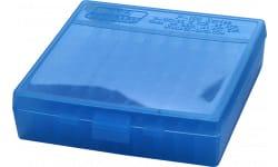 "MTM P1004524 P-100 Flip-Top Pistol Ammo Box 1.3"" OAL Blue Poly"
