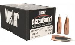 Nosler 57625 AccuBond .338 180 GR 338 Caliber 50 Per Box