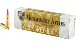 Alexander Arms 6.5 Grendel 120 Grain Nosler Ballistic Tip 20/Box - 20rd Box