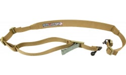 """Blue Force Gear VCAS2TO1RED Vickers 221 Adjustable x 2"""" Included Red Swivel Cordura Coyote Tan Padded"""