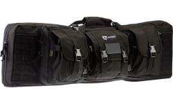 """Drago Gear 12-301BL Double Gun Case 37"""" x 14"""" x 12.5"""" Exterior 600D Polyester Black"""