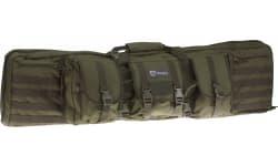 """Drago Gear 12-323GR Double Gun Case 43"""" x 14"""" x 13"""" Exterior 600D Polyester Green"""