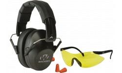 Walkers Game Ear GWPFPM1GFP Passive Pro Safety Combo Kit Earmuff/Plugs/Glasses 31 dB Black