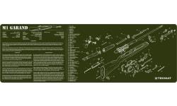"""Tekmat R36M1GARAND M1 Garand Cleaning Mat M1 Garand Parts Diagram 36"""" x 12"""" OD Green"""