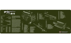 "Tekmat R36AR15OD AR-15 Cleaning Mat AR-15 Parts Diagram 36"" x 12"" OD Green"