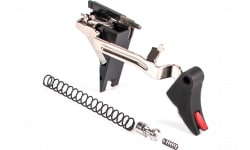 ZEV CFTPRODRP4G9 Pro Trigger Drop-In Kit compatible with Glock 19/17/34/26 17-4 Stainless Steel/Aluminum Black/Red