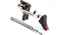 ZEV CFTPRODRP3G9 Pro Trigger Drop-In Kit compatibl with Glock 19/17/34/26/17L Gen1-3 17-4 Stainless Steel/Aluminum Black/Red