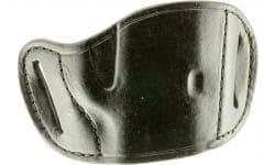 Bulldog MLBM Belt Slide Medium Automatic Handgun Holster Right Hand Leather Black