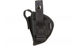 "Bulldog FSN3 Extreme Pistol Belt Loop & Clip Sz 3 2.5-3.75"" Barrel Compact Auto, Most Nylon Black"