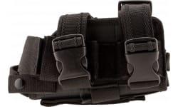 NCStar CVDLHOL2954B Drop Leg Universal Holster Black Full Size/Compact Semi-Auto Pistols PVC Fabric Black