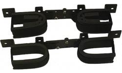 Rugged Gear 10075 Gun Rack Overhead Black Steel