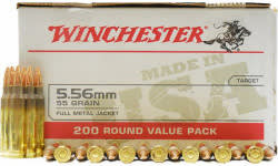 Winchester Ammo USA556L2 Case, 5.56 Nato, 55 Grain, Brass, Boxer, FMJ, Reloadable - 800 Round Case