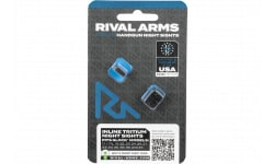 Rival Arms Tritium Night Sights Glock 17/19 MOS LOW Inline White Dot - RA4B231G
