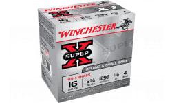 """Winchester Ammo X16H4 Super-X High Brass 16GA 2.75"""" 1 1/8oz #4 Shot - 25sh Box"""