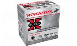 """Winchester Ammo X16H7 Super-X High Brass 16GA 2.75"""" 1 1/8oz #7.5 Shot - 25sh Box"""