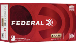 Federal WM5221 10MM Ammunition, Brass Cased, Boxer Primed, Reloadable, 180 Grain FMJ - 50 Round Box