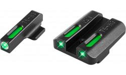 TruGlo TG13KA1A TFX Day/Night Sights Kahr Pistols Tritium/Fiber Optic Green w/White Outline Front Green Rear Black