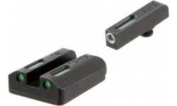 TruGlo TG13TA2A TFX Day/Night Sights Taurus Mil/Slim Steel Green Tritium/Fiber Optic w/White Outline Steel