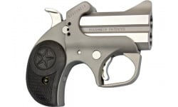 "Bond Arms Roughneck Derringer Pistol 2.5"" Barrel .357 MAG/.38Spl 2rd - Stainless Steel Finish W/ Rubber Grips - BARN-357/38"