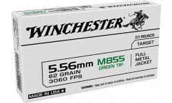 Winchester Ammo Case USA855K Green Tip 5.56x45mm NATO 62 GR. Full Metal Jacket  - 1000 Round Case