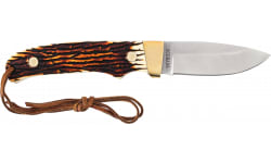 Uncle Henry PH2N Small Fixed Blade w/Staglon Handle, Leather Sheath