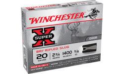 """Winchester Ammo XRS20 Super-X 20GA 2.75"""" 5/8oz Slug Shot - 5sh Box"""