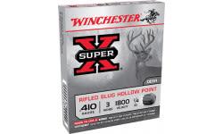 """Winchester Ammo X413RS5 Super-X 410GA 3"""" 1/4oz Slug Shot - 5sh Box"""