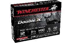 "Winchester Ammo SB12L00 Double X High Velocity 12GA 3.5"" 15 Pellets Buck Shot - 5sh Box"
