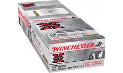 Winchester Ammo X17HMR1 Super-X 17 Hornady Magnum Rimfire (HMR) 20 GR Jacketed Hollow Point - 50rd Box