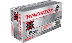 Winchester Ammo X38WCPSV Super-X 38 Special 158 GR Lead Semi-Wadcutter - 50rd Box