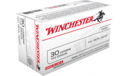 Winchester Ammo Q3132 Winchester Rifle 30 Carbine 110 GR Full Metal Jacket - 50rd Box