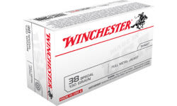 Winchester Ammo Q4171 Best Value 38 Special 130 GR Full Metal Jacket, Brass, Boxer, Reloadable  - 500 Round Case