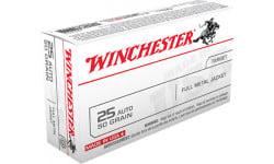 Winchester Ammo Q4203 Best Value 25 ACP 50 GR Full Metal Jacket - 50rd Box
