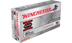 Winchester X40SWSTHP Siver Tip Super-X 40 Smith & Wesson 155 GR Silvertip HP Ammo - 50 Round Box